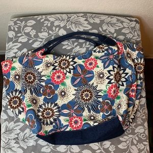 Hobo Floral Denim bag